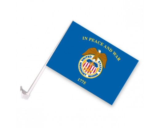 Merchant Marine Car Window Flag