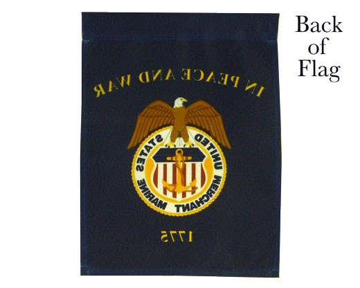 Merchant Marines Garden Flag Back