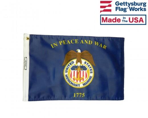 Merchant Marine Motorcycle Flag