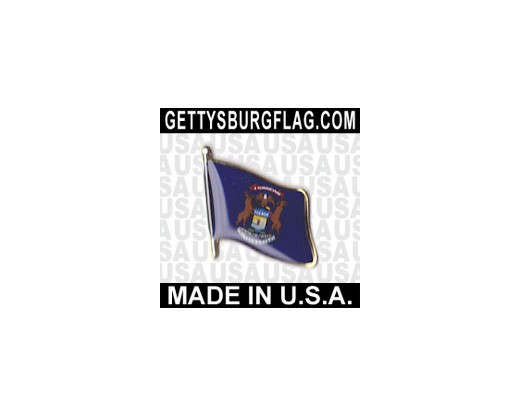 Michigan State Flag Lapel Pin