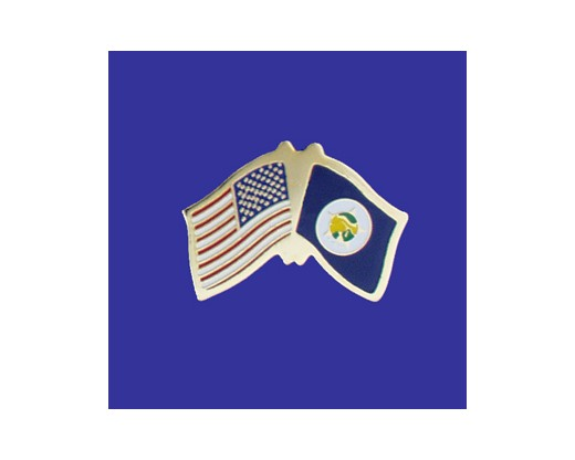 Minnesota State Flag Lapel Pin (Single Waving Flag) (Imported - Close Out)