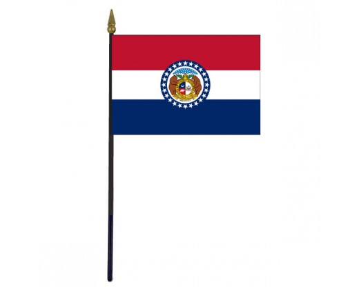 Missouri State Stick Flag - 4x6""