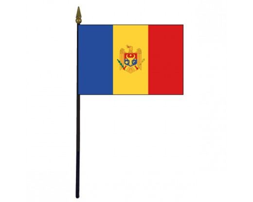 Moldova Stick Flag - 4x6""