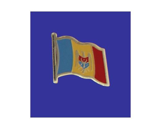 Moldova Lapel Pin (Single Waving Flag)