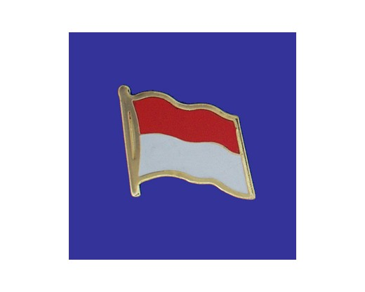Monaco Lapel Pin (Single Waving Flag)