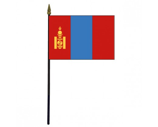 Mongolia Stick Flag - 4x6""