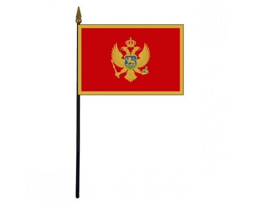 "Montenegro Stick Flag - 4x6"""