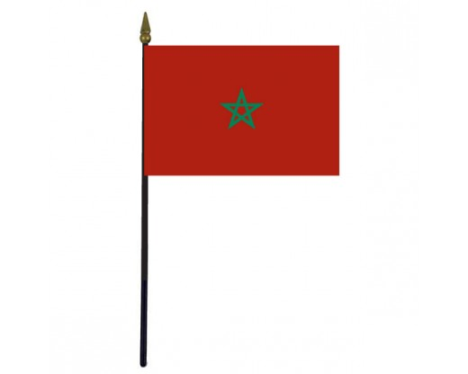 Morocco Stick Flag - 4x6""