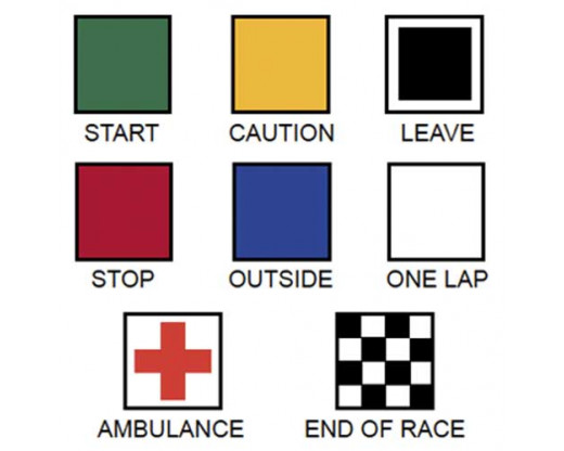 Motorcycle Racing Flag Set Clear