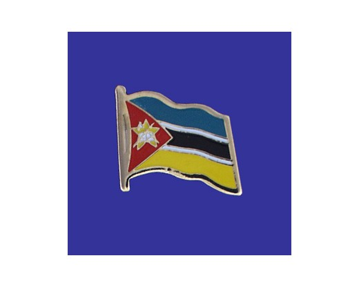 Mozambique Lapel Pin (Single Waving Flag)