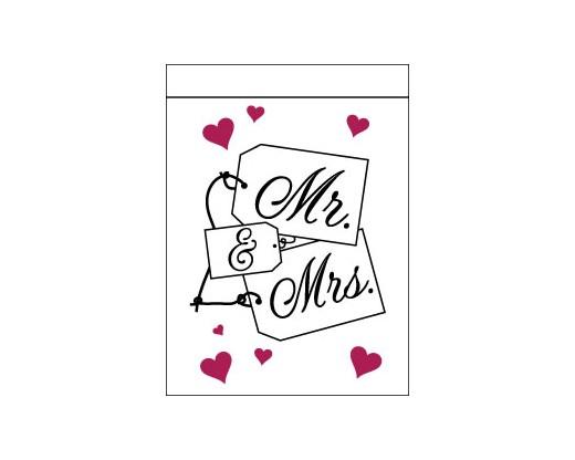 Mr. & Mrs. Name Cards Flag