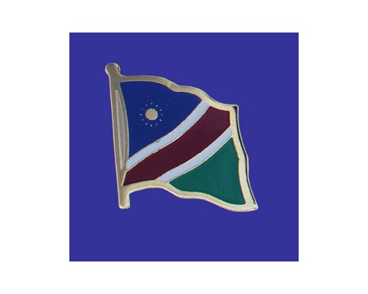 Namibia Lapel Pin (Single Waving Flag)
