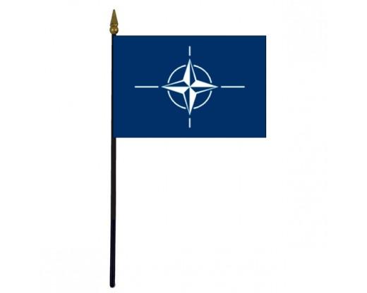 """NATO Stick Flag - 4x6"""""""