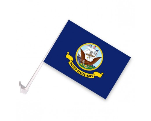 Navy Car Window Flag