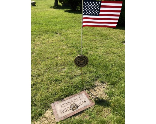 Navy grave marker at grave