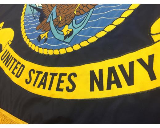 U.S. Navy Applique Flag, 3x5