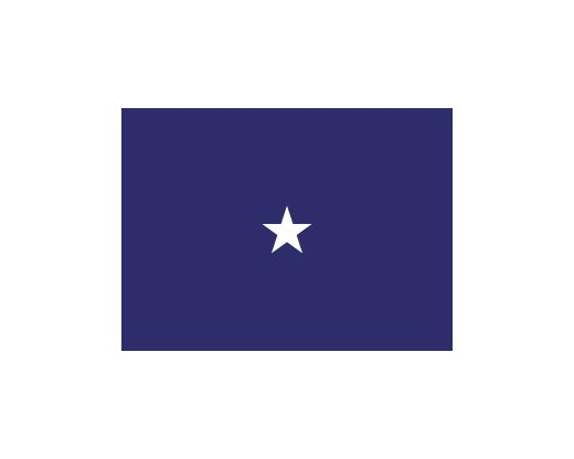 Navy Commodore Flag (1 Star) - 3x5'
