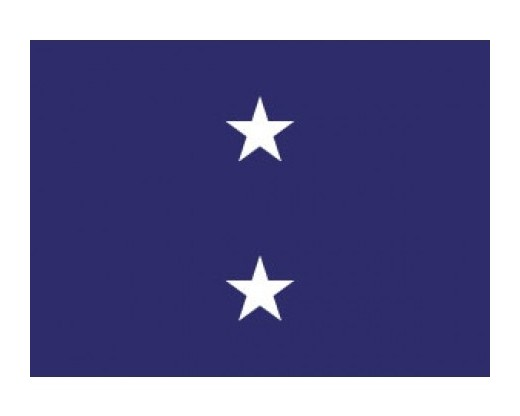 Navy Rear Admiral (2 Star Upper Admiral)  - Naval Officer Outdoor Flags