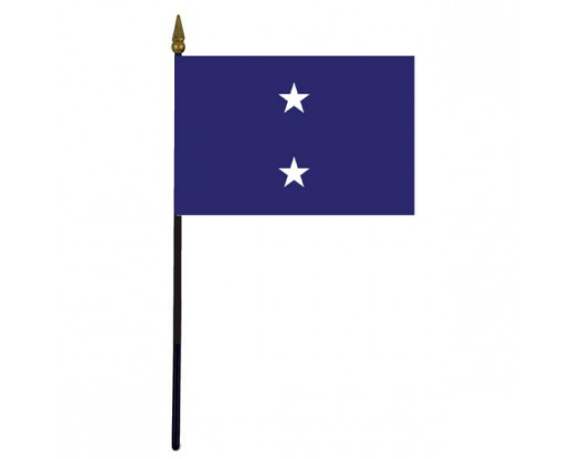 Navy Rear Admiral Stick Flag - 4x6""