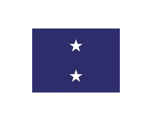 Navy Rear Admiral (2 Star) - Indoor Naval Officer Flags