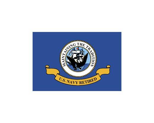 US Navy Retired Flag - 3x4'