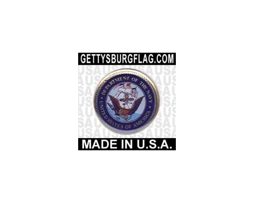Navy Lapel Pin (Round Emblem Design)