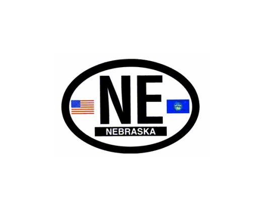 Nebraska Oval Sticker