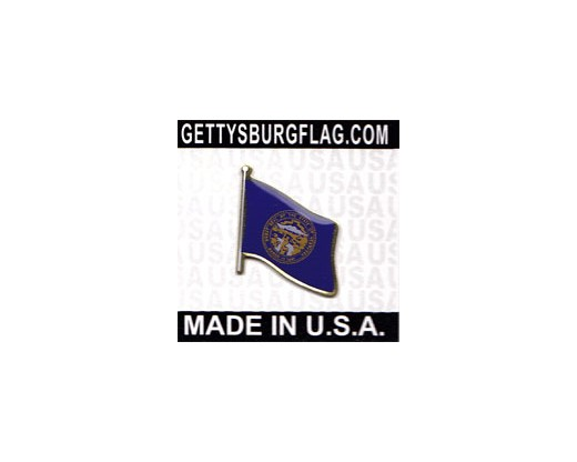 Nebraska State Flag Lapel Pin (Single Waving Flag)