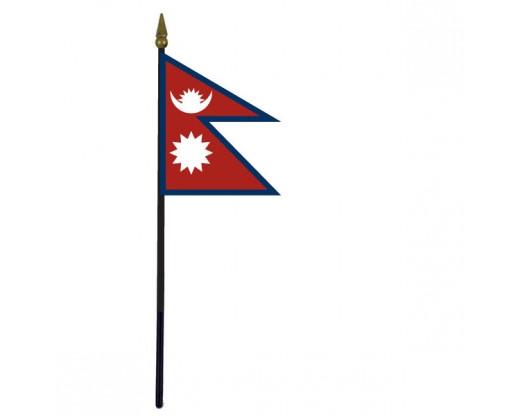 "Nepal Stick Flag - 4x6"""