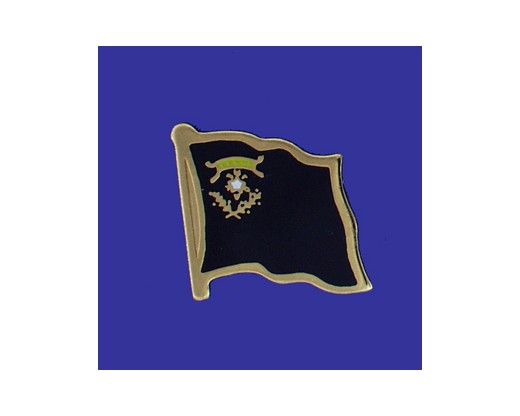 Nevada State Flag Lapel Pin (Single Waving Flag) (Imported - Close Out)