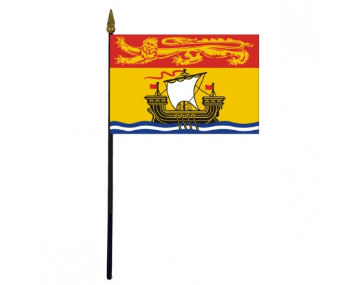 "New Brunswick Stick Flag - 4x6"""