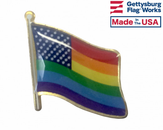 New Glory Flag Lapel Pin