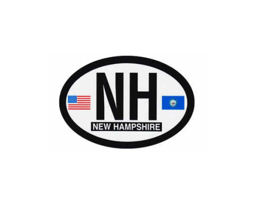 New Hampshire Oval Sticker
