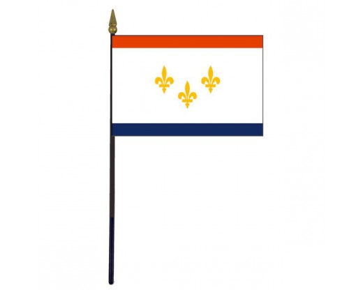 City of New Orleans Stick Flag (LA, USA) - 4x6""