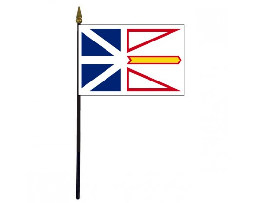 Newfoundland Stick Flag - 4x6""