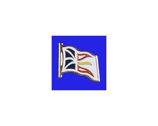 Newfoundland Lapel Pin (Single Waving Flag)