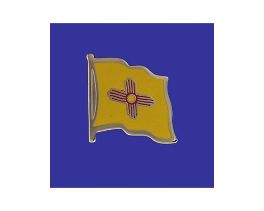 New Mexico State Flag Lapel Pin (Single Waving Flag) (Imported - Close Out)