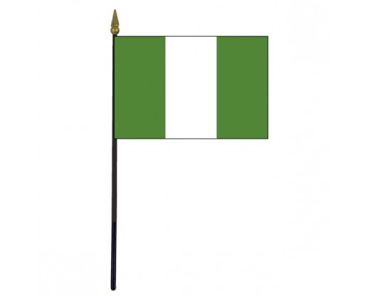 Nigeria Stick Flag - 4x6""