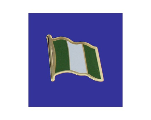 Nigeria Lapel Pin (Single Waving Flag) (Imported - Close Out)
