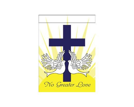 No Greater Love Garden Flag
