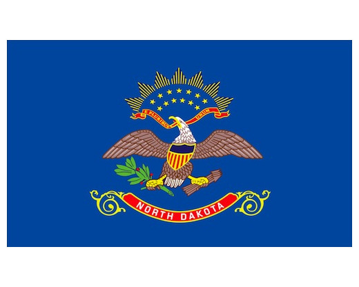 North Dakota Flag - Outdoor