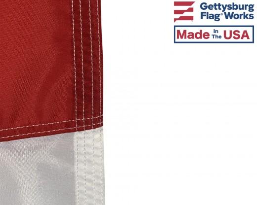 North Carolina Flag Fly end Stitching