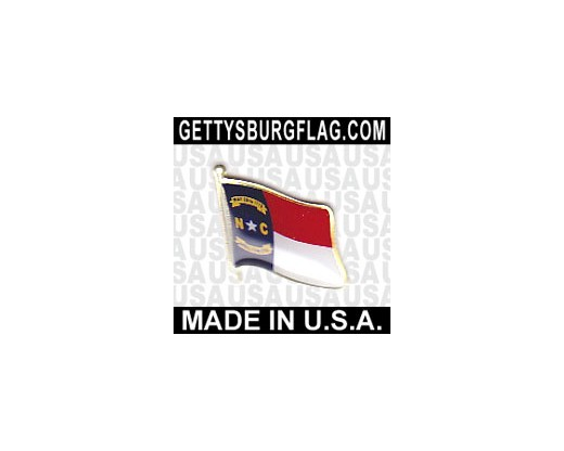 North Carolina State Flag Lapel Pin (Single Waving Flag)
