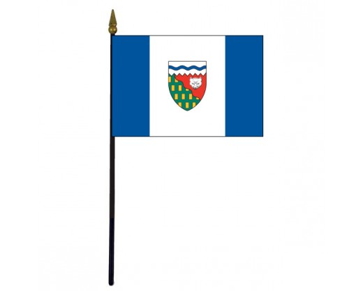 Northwest Territories Stick Flag - 4x6""