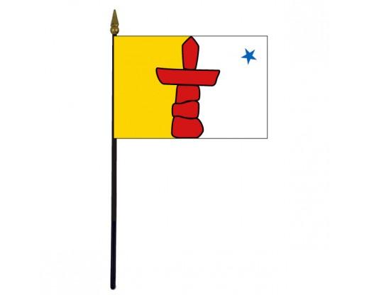 "Nunavut Stick Flag - 4x6"""