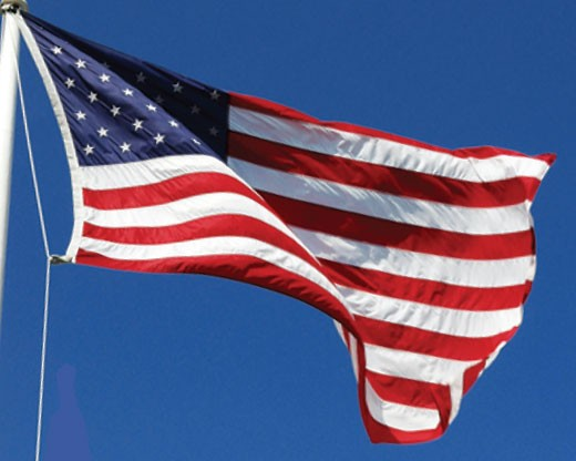 Nylon American Flag Flying