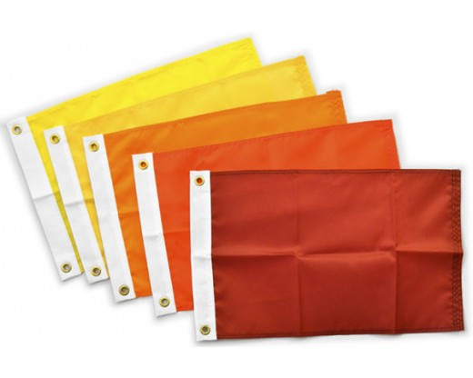 Blank Nylon Flag, Header & Grommets, Warm Red - 14x20""