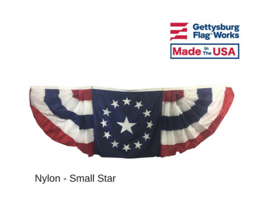 3x9' Oversized Pleated Fan Colonial Star Bunting Decoration