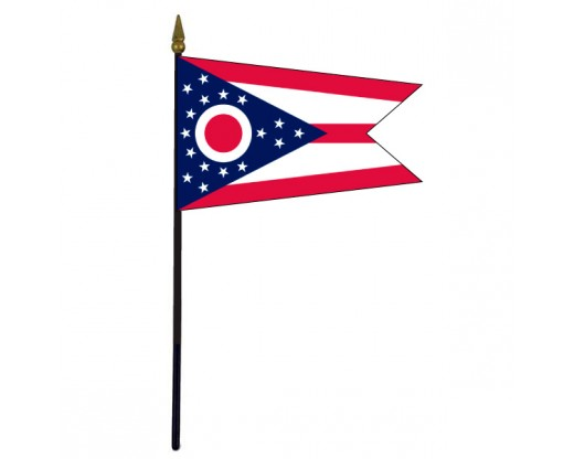 Ohio State Stick Flag - 4x6""