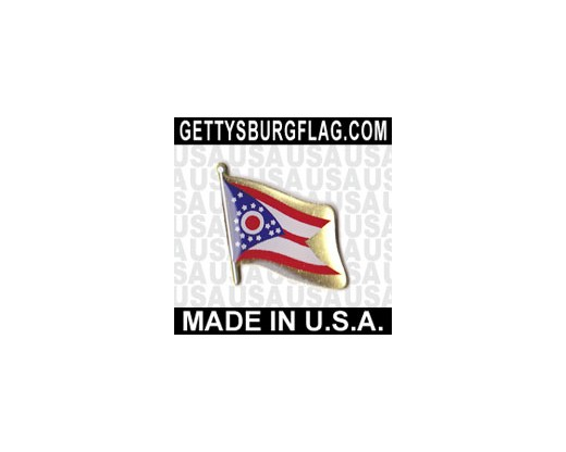 Ohio State Flag Lapel Pin